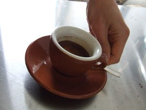 demitasse of black torpedo espresso